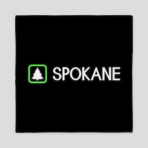 Spokane, Washington Queen Duvet