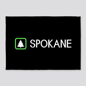 Spokane, Washington 5'x7'Area Rug