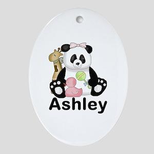 Ashley's Panda Oval Ornament