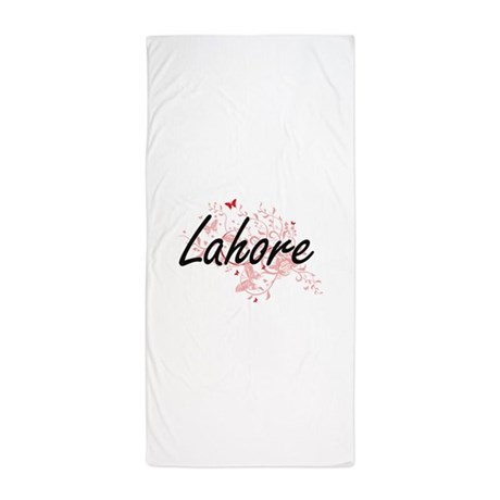 Lahore Pakistan City Artistic Design W Beach Towel