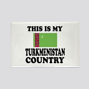This Is My Turkmenistan Country Rectangle Magnet
