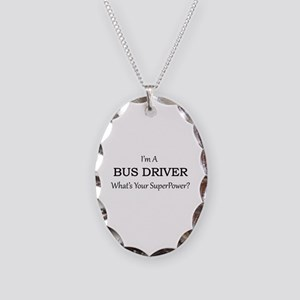 Bus Driver Necklace Oval Charm