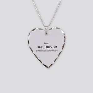 Bus Driver Necklace Heart Charm