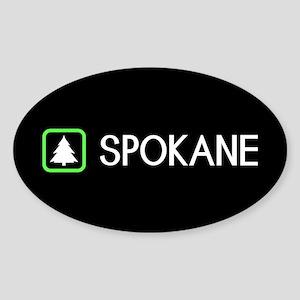Spokane, Washington Sticker (Oval)