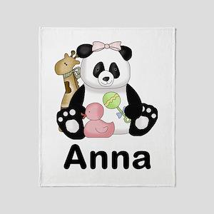 Anna's Panda Throw Blanket
