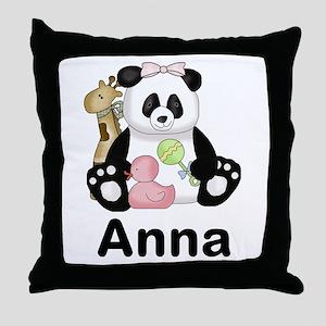Anna's Panda Throw Pillow