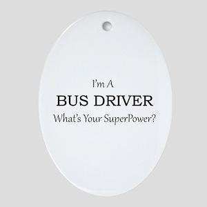 Bus Driver Oval Ornament