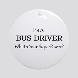 Bus Driver Round Ornament