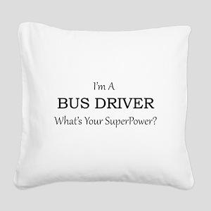 Bus Driver Square Canvas Pillow