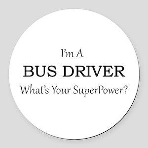 Bus Driver Round Car Magnet
