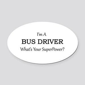 Bus Driver Oval Car Magnet