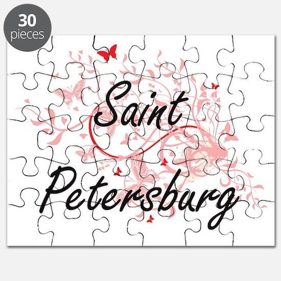 Saint Petersburg Russia City Artistic desig Puzzle