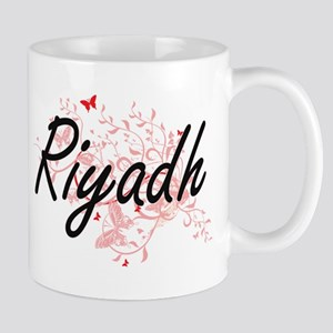 Riyadh Saudi Arabia City Artistic design with Mugs