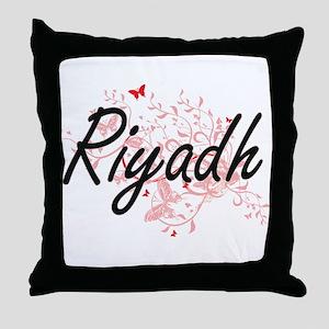 Riyadh Saudi Arabia City Artistic des Throw Pillow