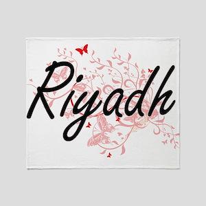Riyadh Saudi Arabia City Artistic de Throw Blanket