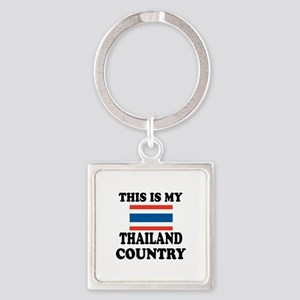 This Is My Thailand Country Square Keychain