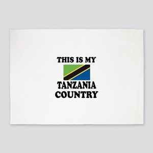 This Is My Tanzania Country 5'x7'Area Rug