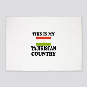 This Is My Tajikistan Country 5'x7'Area Rug