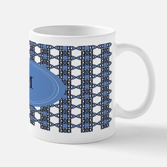 Personalized Blue Geo Lace Mug