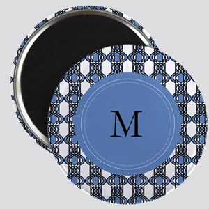 Personalized Blue Geo Lace Magnet