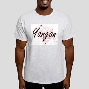Yangon Myanmar City Artistic design with b T-Shirt