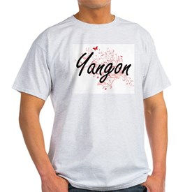 Yangon Myanmar City Artistic design with b T-Shirt