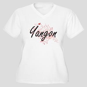 Yangon Myanmar City Artistic des Plus Size T-Shirt