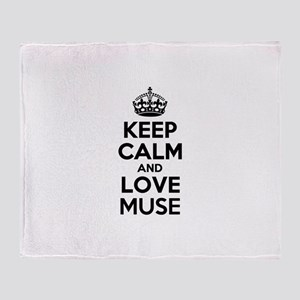 Keep Calm and Love MUSE Throw Blanket