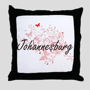 Johannesburg South Africa City Artist Throw Pillow