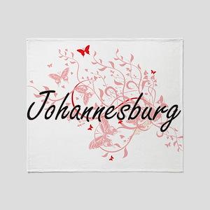 Johannesburg South Africa City Artis Throw Blanket