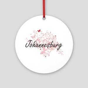 Johannesburg South Africa City Arti Round Ornament