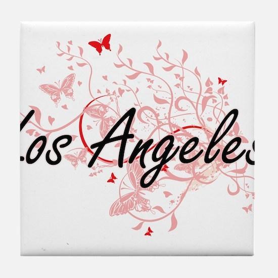 Los Angeles United States City Artist Tile Coaster