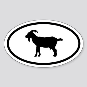Goat Oval Sticker