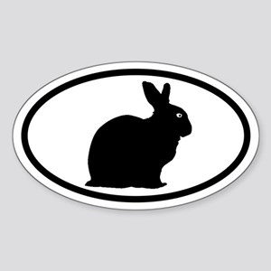 Bunny Rabbit Oval Sticker