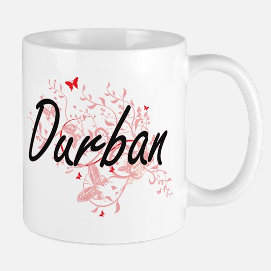 Durban South Africa City Artistic design with Mugs