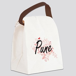 Pune India City Artistic design w Canvas Lunch Bag