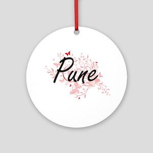 Pune India City Artistic design wit Round Ornament