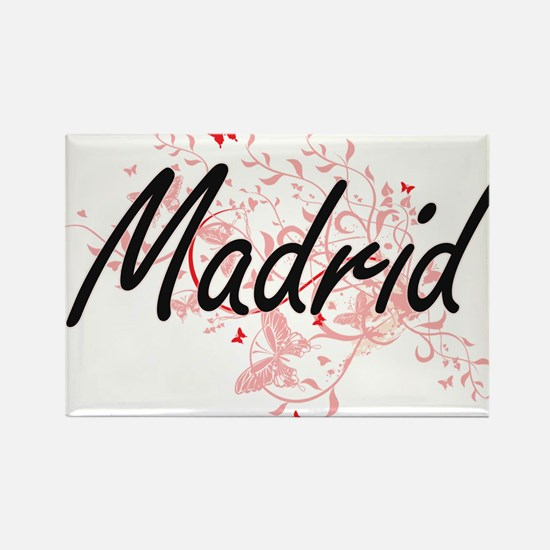 Madrid Spain City Artistic design with but Magnets