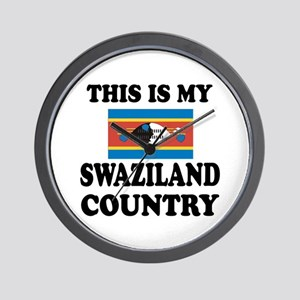 This Is My Swaziland Country Wall Clock