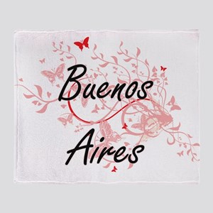 Buenos Aires Argentina City Artistic Throw Blanket
