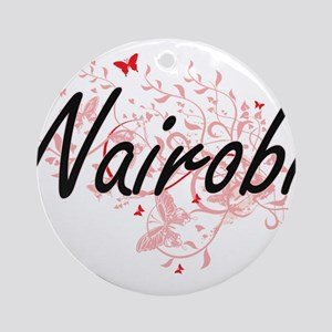 Nairobi Kenya City Artistic design Round Ornament