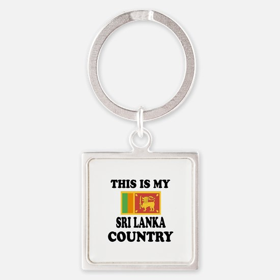 This Is My Sri Lanka Country Square Keychain