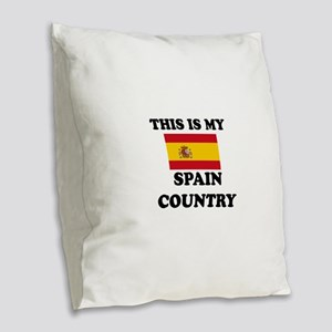 This Is My Spain Country Burlap Throw Pillow