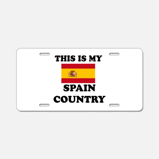 This Is My Spain Country Aluminum License Plate