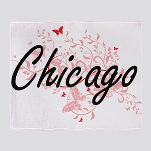 Chicago Illinois City Artistic desig Throw Blanket