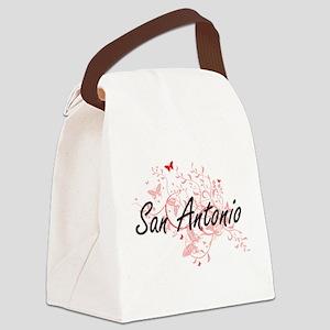 San Antonio Texas City Artistic d Canvas Lunch Bag