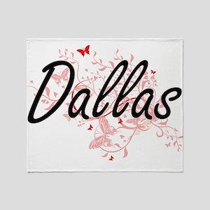 Dallas Texas City Artistic design wi Throw Blanket