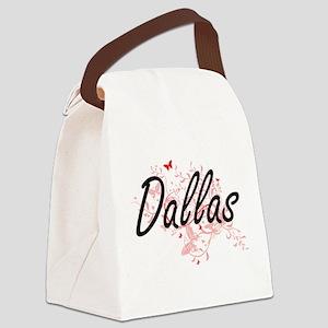 Dallas Texas City Artistic design Canvas Lunch Bag