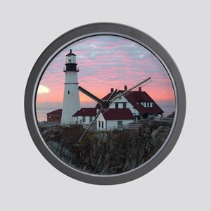 Portland Headlight Sunrise Wall Clock