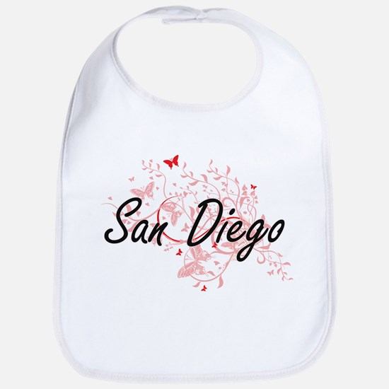 San Diego California City Artistic design with Bib